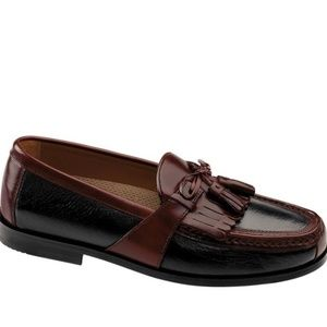 Johnston & Murphy 9.5 Leather Loafers Black Brown